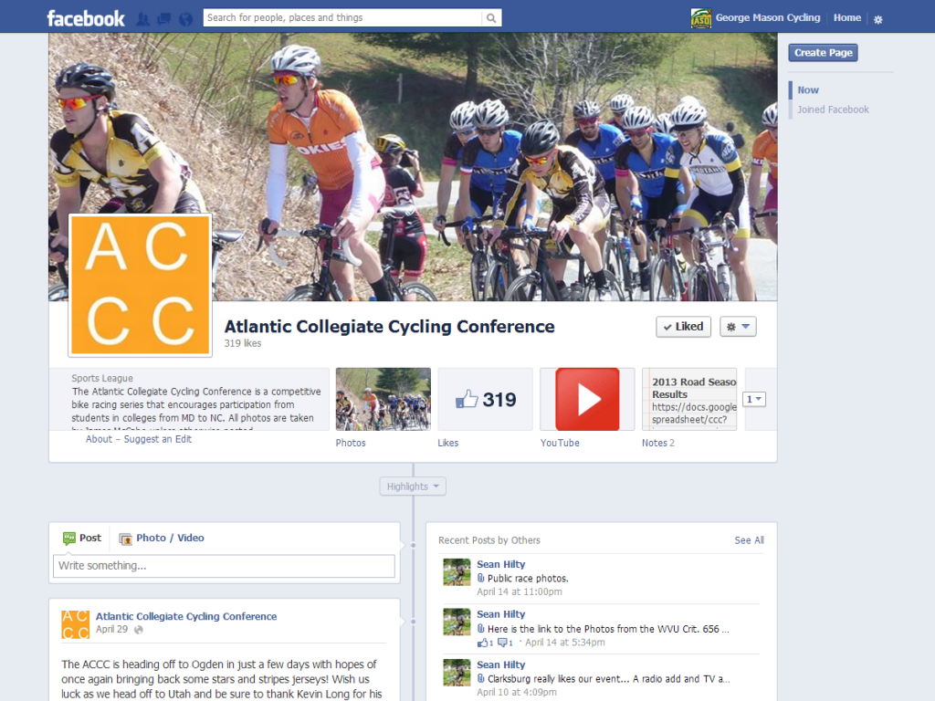 ACCC updated Facebook Page with new logo (2015)