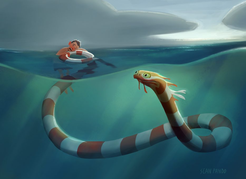 KyleBondo.com - Sea Monster by Sean Pando