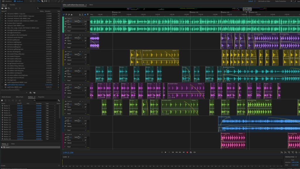 War Yankee - Overland Adobe Audition soundscape design example from Episode #9 - Defiant Blue Knot - showing how AX laying is the secret to immersive audio.